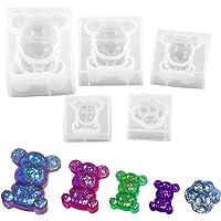 Daimay Moule en résine 3D en forme d'animal en silicone pour glaçons, glaçons, bonbons, fondants, cupcakes, décoration…