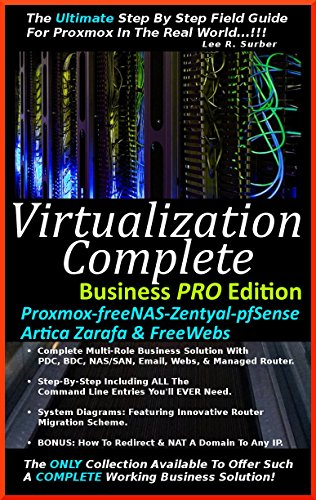 Virtualization Complete: Business PRO Edition (Proxmox-freeNAS-Zentyal-pfSense-Artica Zarafa & FreeWebs) (English Edition) por Lee R. Surber