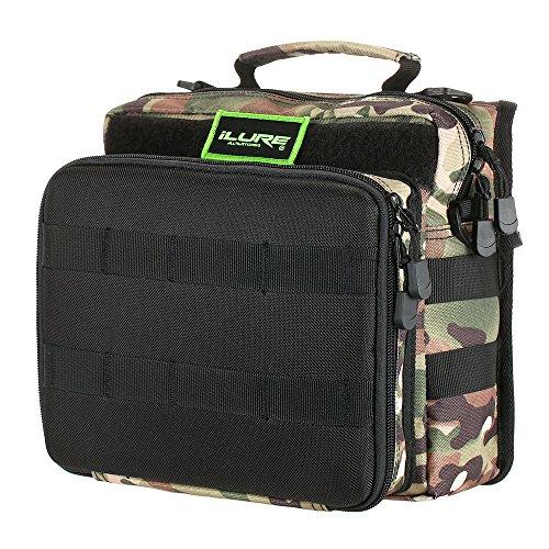 Lixada borse di pesca pesca tackle bag zaino o crossbody messenger borse per il campeggio trekking