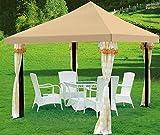 Yaheetech Toit de Tonnelle Rechange en toile Oxford Imperméable Auvent Tente Outdoor 3x3M (Beige)