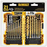 DEWALT DW1361 Titanium Pilot Point Drill Bit Set, 21-Piece by DEWALT