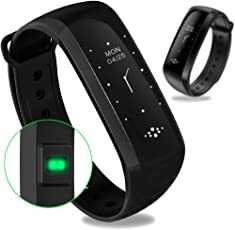 WEARFIT Fitness Tracker Bluetooth Smart Watch Heart Rate Monitor Smart Bracelet Waterproof Pedometer Sport Activity Tracker for Android iOS