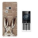 002043 - Cool Cute Bunny Rabbit Hiding Sketch Pets Design