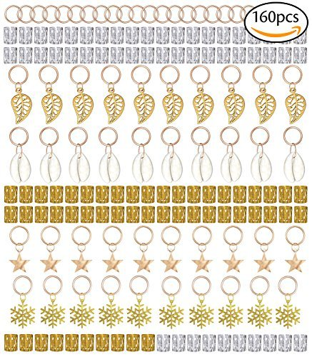 Dreadlocks Perlen Haar Spule Haarspange Metall Haar Manschetten Haar Flechten Anhänger für Haarschmuck Haar Zubehör, Gold und Silber MEHRWEG ()