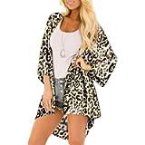 YONHEE Women Floral Kimono Cardigans- Floral Cover Up Chiffon Print Loose Shawl Beachwear Boho Summer Casual Blouse…