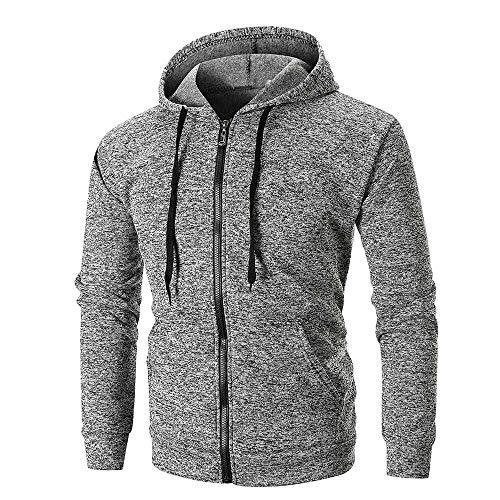 MEIbax Herren Langarm Kapuzenpullover mit Kapuze Sweatshirt Hoodie Casual Outwear Sport Mantel