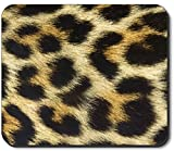 Art Plates brand mouse pad–in finta pelliccia di leopardo