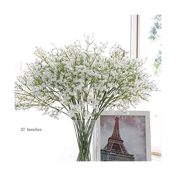 Houda – 9 unidades de flores artificiales de paniculata («Gypsophila»), plantas, ramos de boda, manualidades caseras…