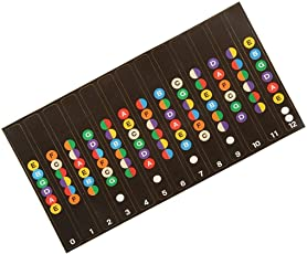 Electomania Guitar Fretboard Labels Decals Sticker for Beginners