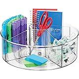 mDesign plateau tournant pour stylos, trombones, pense-bête etc. – accessoire de bureau rotatif avec 5 compartiments – rangem