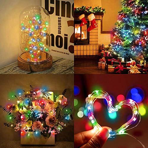 Stück], Etmury 3M 300 LED Batterie Lichterketten Außen Innen Kupferdraht Wasserdicht IP65 Beleuchtung Dekoration Fairy Light für Zimmer Halloween Garten Weihnachten Hochzeit DIY ()