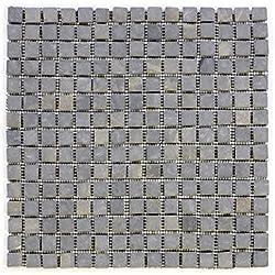 DIVERO Marmor Naturstein-Mosaik Fliesen für Wand Boden quadratisch grau 11 Matten 30 x 30cm je 15 x 15 Steine
