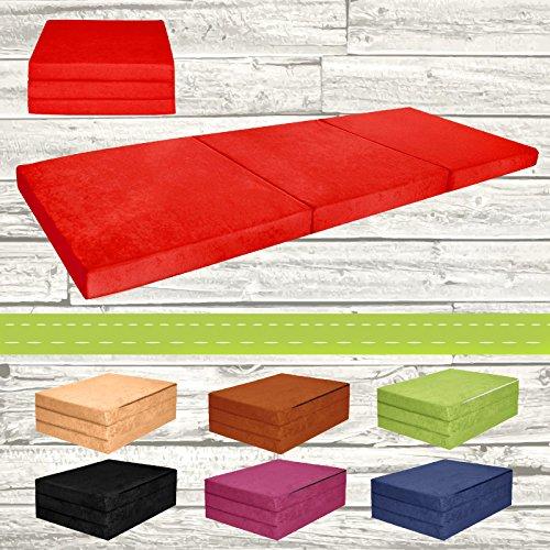 Materasso-pieghevole-per-ospiti-letto-per-letto-Ospite-futon-Pouf-195-x-80-x-9-cm-colore-rosso
