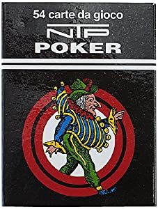 Dal Negro Dal Negro-00028 Naipes DE Poker Long Life NTP plastico, Color Rojo 00028