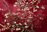 Floral Leinwandbild, Motiv 'VanGogh - BlühendeMandelbaumzweige', 76,2 x 50,8, aufhängfertig, Rotbraun