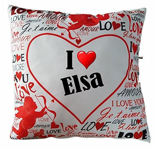 edruckt mit I Love Elsa oder individuell mit Ihrem Wunschnamen gestaltbar ()