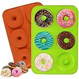 ZouWei Molde de rosquilla, Molde de Silicona Galletas, Moldes de Silicona Donut, Galletas, Bagels, Bandeja para Hornear buñue