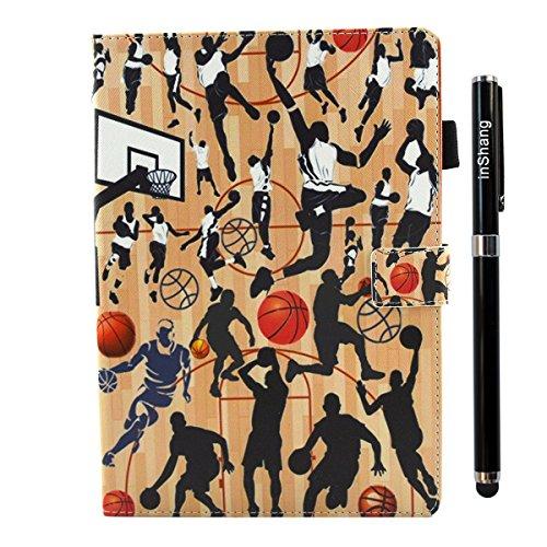 iPad IPad pro 10.5 Custodia per IPAD iPad pro 10.5 inch, inShang Smart Cover case in pelle PU, supporto per tenere L'iPad sollevato, magnetico per sleep e standby + inShang Logo pennino di alta classe Basketball