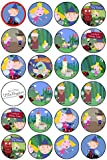 24 Ben & Holly's Little Kingdom Edible Wafer Paper Cup Cake Toppers