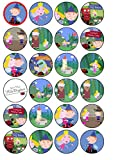 24 Ben & Hollys Little Kingdom Edible Wafer Paper Cup Cake Toppers by CakeThat
