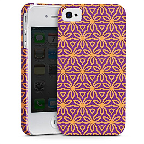 Apple iPhone X Silikon Hülle Case Schutzhülle Blumen Illusion Muster Premium Case glänzend