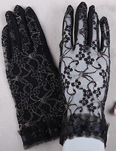 Lace Touch Screen Control Été Sun Gloves Été Thin Short Anti-UV Driving Gloves ( Couleur : 1 ) 5