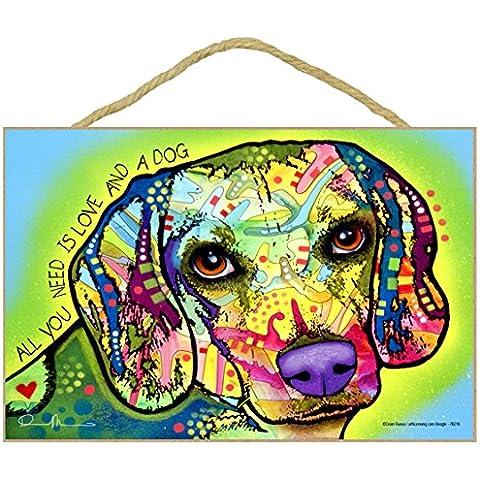 Beagle Cane regalo colorato, motivo