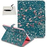 TOCASO Galaxy Tab 4 10.1 (T530) Hülle Wallet Case Etui Muster Brieftasche Lederhülle Ultra Slim Handyhülle Ständer Halter Magnet Schale Klapphülle Rückseite -Aprikosenbaum