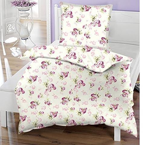 JEMIDI Bettwäsche 135cm x 200cm Bett Wäsche Baumwolle 2 teilig