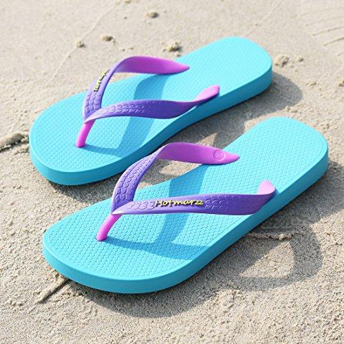Hotmarzz Infradito Donna Sandali Leicht Rutschfest Estate Spiaggia Piscina Flip Flops Blu
