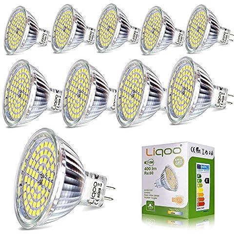 Liqoo® 10x MR16 GU 5.3 Ampoule LED Lampe Bulb Spot