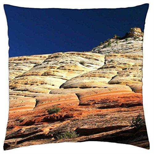 checkerboard mesa in zion np utah - Throw Pillow Cover Case (16 (Checkerboard Slip)