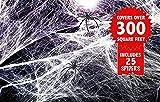 Set Deluxe, Tela de Araña Elástica- Apoyo para Celebración de Halloween – 120g de Telarañas Decorativas Desplegables Realistas + 25 Arañas Grandes – Adorno, Decoración para Fiesta - Para Muebles y Paredes