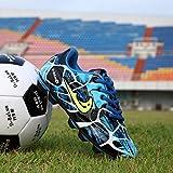 Tutoy Chaussures De Football Bottes Artificielle Gazon Adolescent Formation Spike Soccer Extérieur -42 Bleu