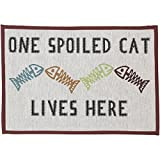 Pet Rageous Design Tapisserie Tisch-Sets für Futterstation, 33cm von 19, einer Spoiled Cat, natur/multi