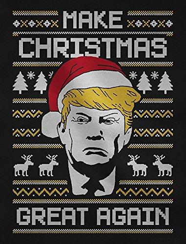 Make Christmas Great Again TRUMP Damen Ugly Christmas Sweater Damen Sweatshirt Marineblau