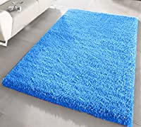 FB FunkyBuys® Large Small Modern Soft Touch Shaggy Thick Luxurious 5cm Dense Pile Bedroom Rug - Available in 12 Vibrant Colors & 4 Sizes from FB FunkyBuys®