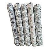 Blue Vessel 5 Sätze Von Grau 5 Stücke Tuch Tuch Gruppe Ebene Weben Tuch Baumwolle Kleine Floral Hand Diy Baumwolle