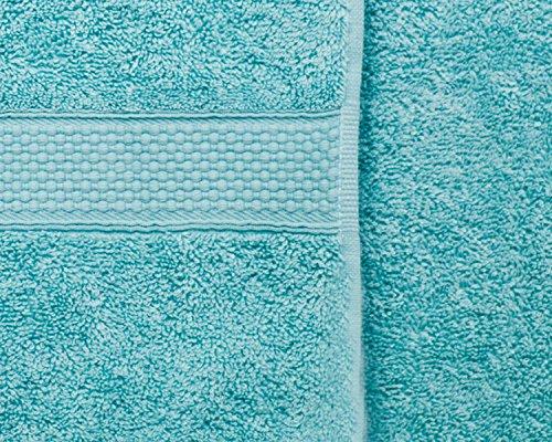 Aqua–Luxus gekämmte Baumwolle 500gsm Imperial Face Reinigungstuch Paar–Bedding Direct UK