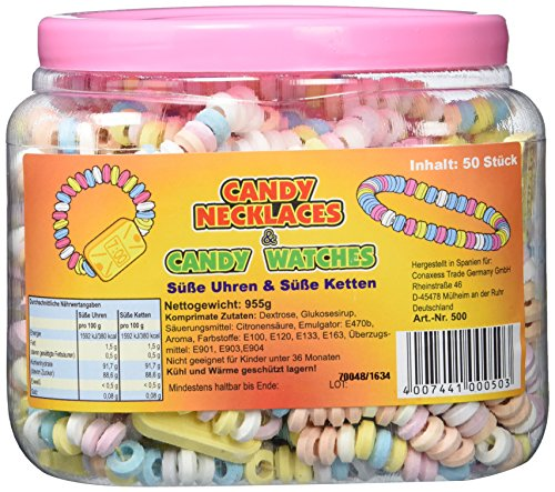 ße Ketten Candy Nacklaces 50 Stück ()