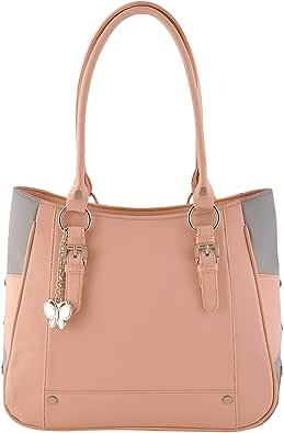 Butterflies Women's Handbag (Peach,Grey) (BNS 0546 PCH)