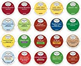 Twinings Keurig 2.0 K Cup Sampler Assortment 20 Count with 10 By The Cup Honey Stix