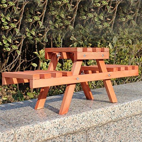 Porte-Fleurs 2 Niveaux Bois Trapézoïdale Fleur Stand Moderne Creative Intérieur Balcon Petite Plante Pot Bureau Charnue Fleur Pots 46 * 15 * 19 Cm Stand d'usine (Couleur : Orange)