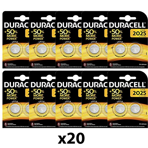 Duracell Specialty 2025 Lithium-Knopfzelle (20 Stück) scr2025, 2025, ea100cf, ecr2025 KL2025