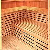 Home Deluxe - Traditionelle Sauna - Relax XL Big - Holz: Hemlocktanne - Maße: 200 x 210 x 200 cm - inkl. Harvia Saunaofen und komplettem Zubehör - 4