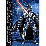 Star Wars con Darth Vader negro azul Alfombra infantil (aprox. 95cm x 133cm–Alfombra niños alfombra moderna Amplios habitación de los Niños–Alfombra infantil habitación de los Niños alfombra alfombra de pasillo Jóvenes con diseño Convierte el Entrar para Puro Placer un diseño atractivo