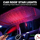Romantic Auto Roof Stars,Atmosphere Ambient Star,The Romantic environment Multiple Modes for car/Home/Party -No Need to Install,Kostenloses 3-in-1-Ladekabel hoher Qualität (Red Starry Sky vision)