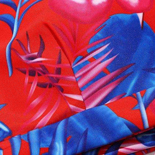 Italily -BIKINI TRIANGOLO E SLIP CON GONNELLINO Costume da bagno per donna Costume da bagno per bebè con fascia imbottita push-up Red
