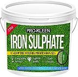 Sulfate de fer en poudre - Sec - De première qualité - 2,5kg - Antimousse et fortifiant pour pelouse Poudre sèche facilement soluble dans l'eau