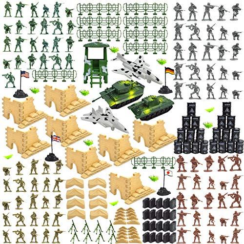 är Kunststoff Soldaten Armee Spielzeug Modell Figuren Dekor Spielen Set für Kinder 250 Teile / Satz ab 3 Jahren ()